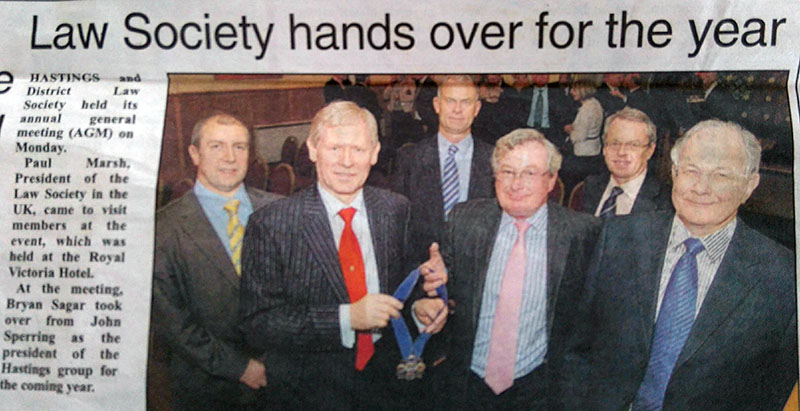 Hastings & District Law Society - 2009 Presidential Hand Over